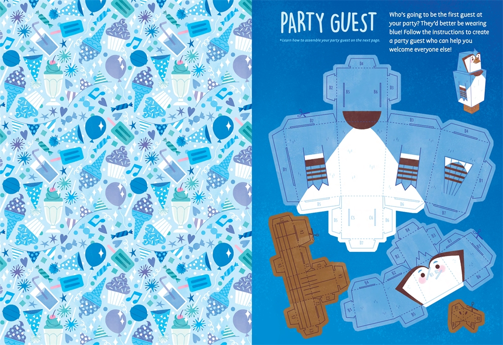 Interior book image for My Favorite Color Activity Book: Blue
