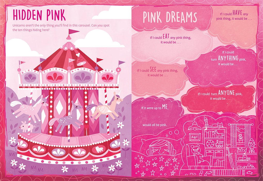 Interior book image for My Favorite Color Activity Book: Pink