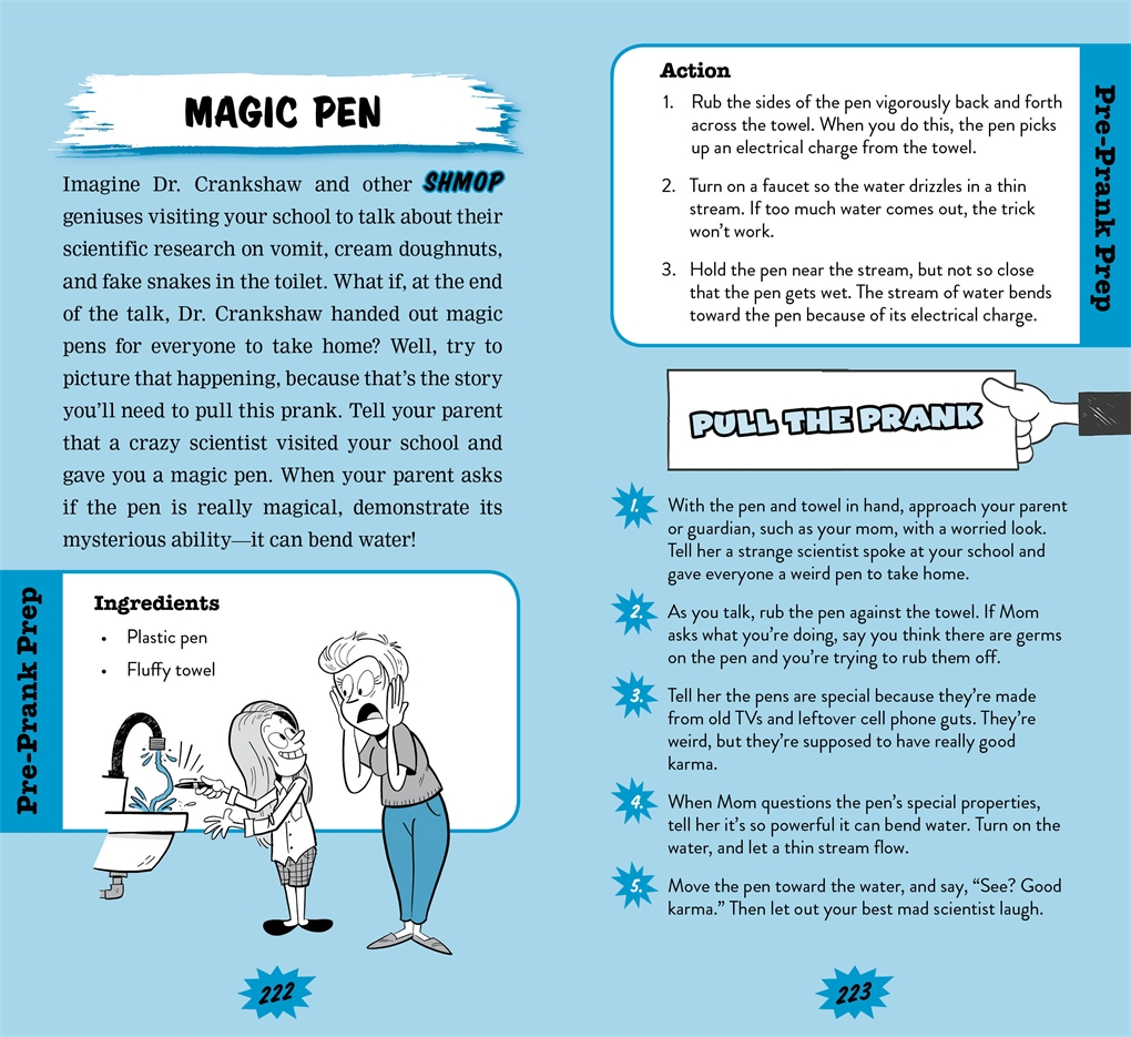 Interior book image for 101 Hilarious Pranks and Practical Jokes