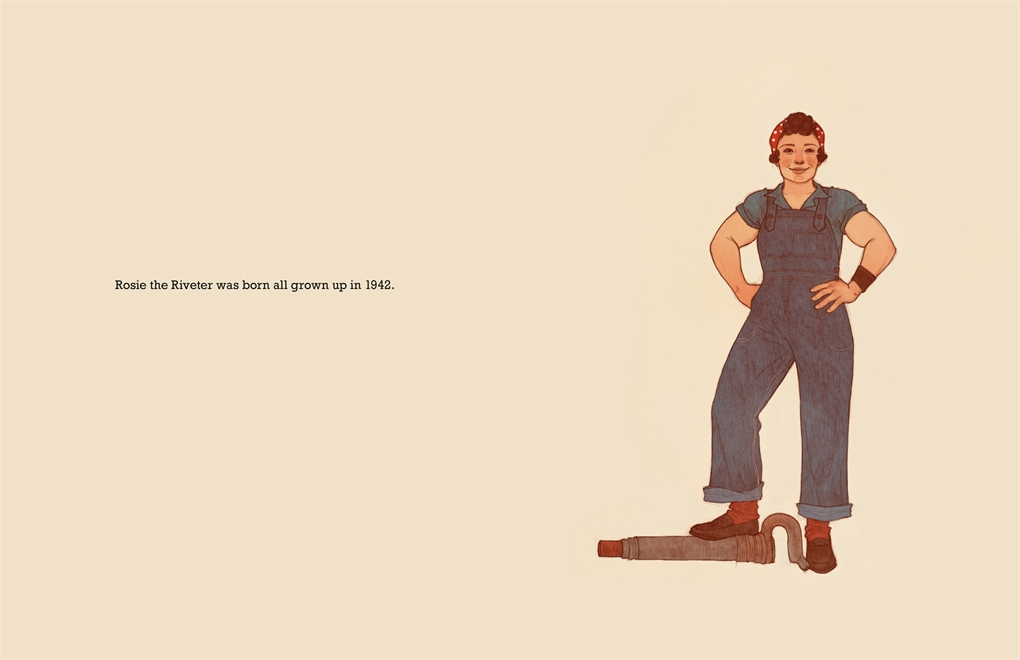 Interior book image for Rosie the Riveter