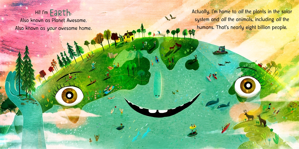 Interior book image for Our Planet! There's No Place Like Earth