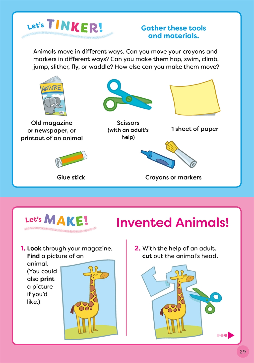 Interior book image for TinkerActive Early Skills Science Workbook Ages 3+