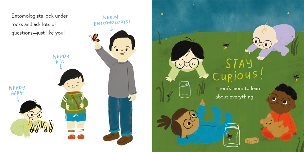 Interior book image for Nerdy Babies: Insects