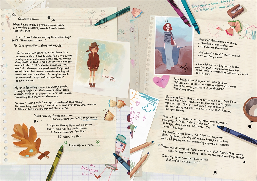 Interior book image for Cici's Journal