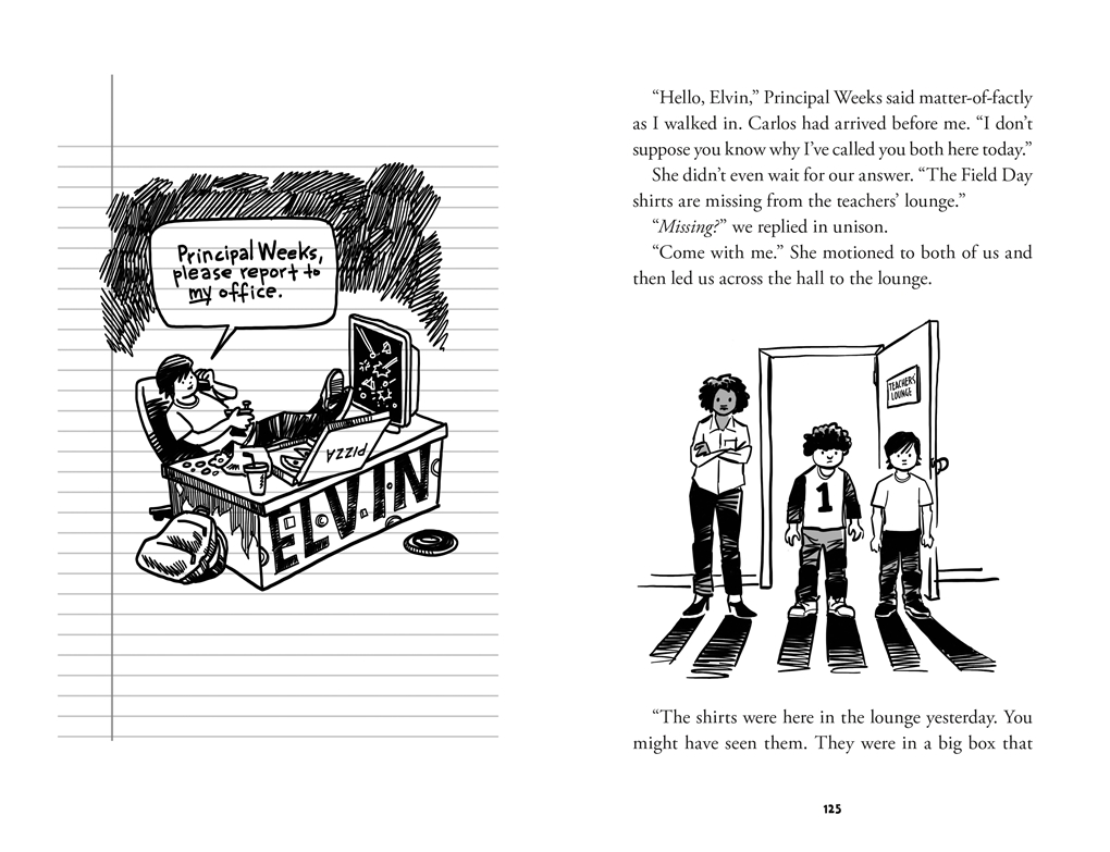 Interior book image for Elvin Link, Please Report to the Principal's Office!
