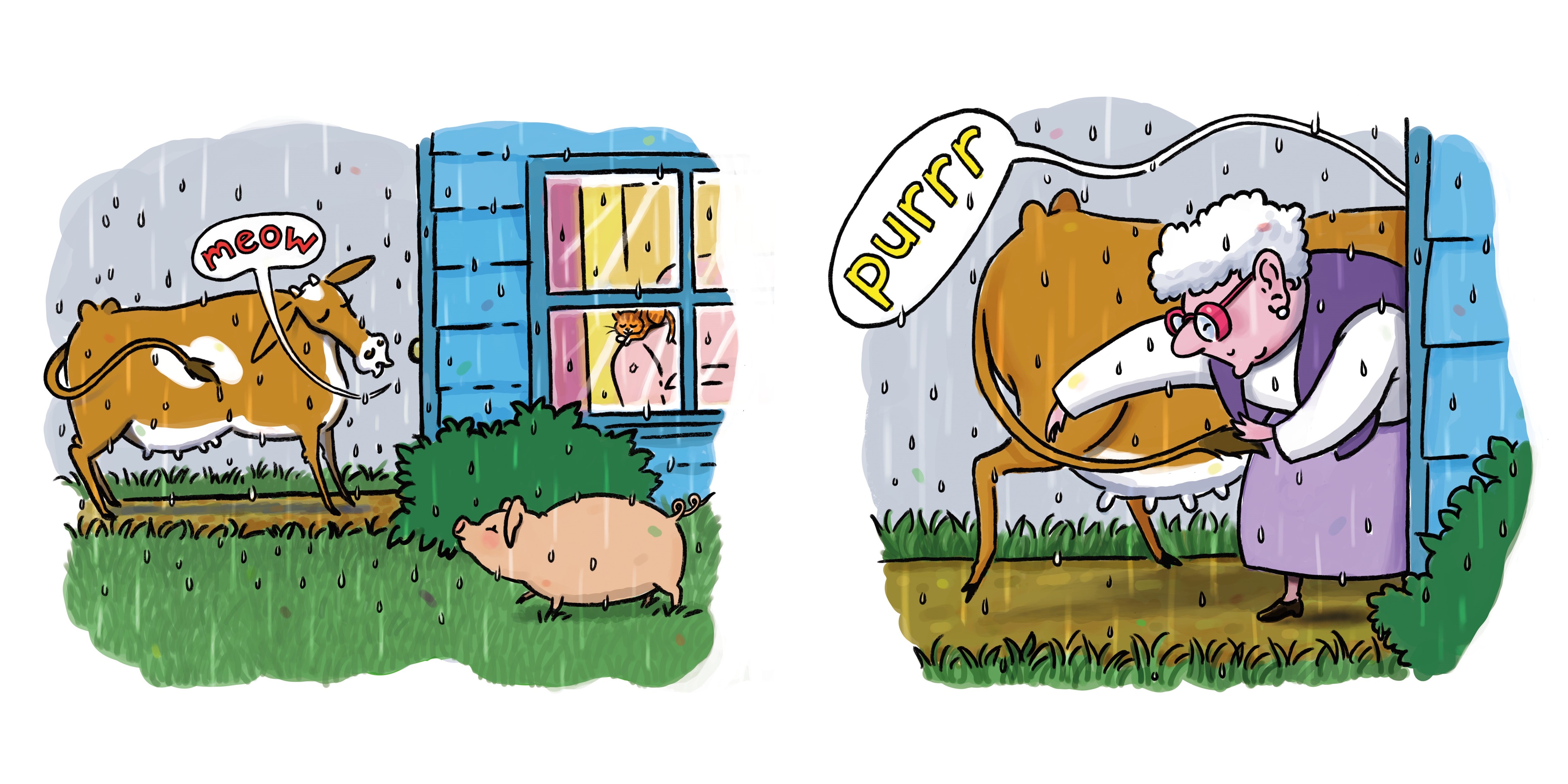 Interior book image for The Cow Said Meow