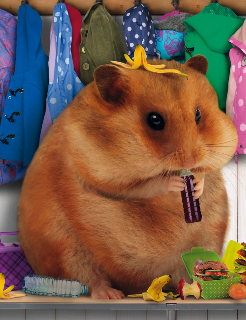 My humongous hamster heads to school in this sequel, and hilarity ensues.  He eats all the packed lunches; he twirls in dance class; he plays  hopscotch ...