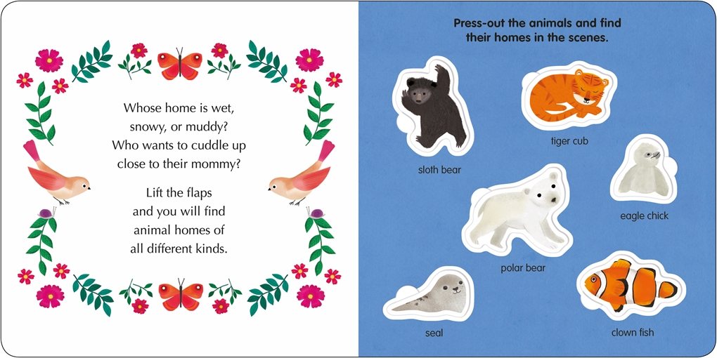 Interior book image for Lift and Play: Who Lives In The Wild