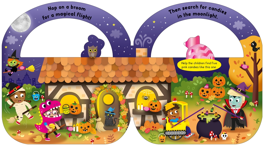 Interior book image for Carry-along Tab Book: My Trick-or-Treat Bag