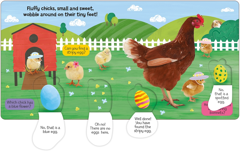 Interior book image for Easter on the Farm