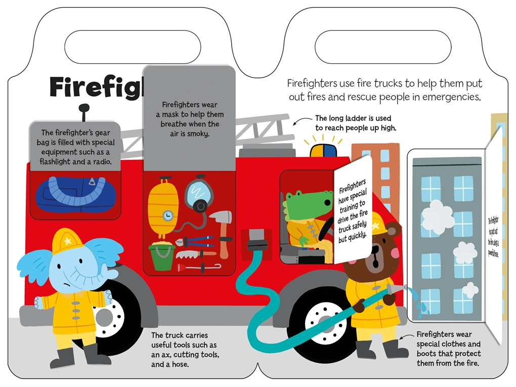 Interior book image for Helpful Heroes: Rescue
