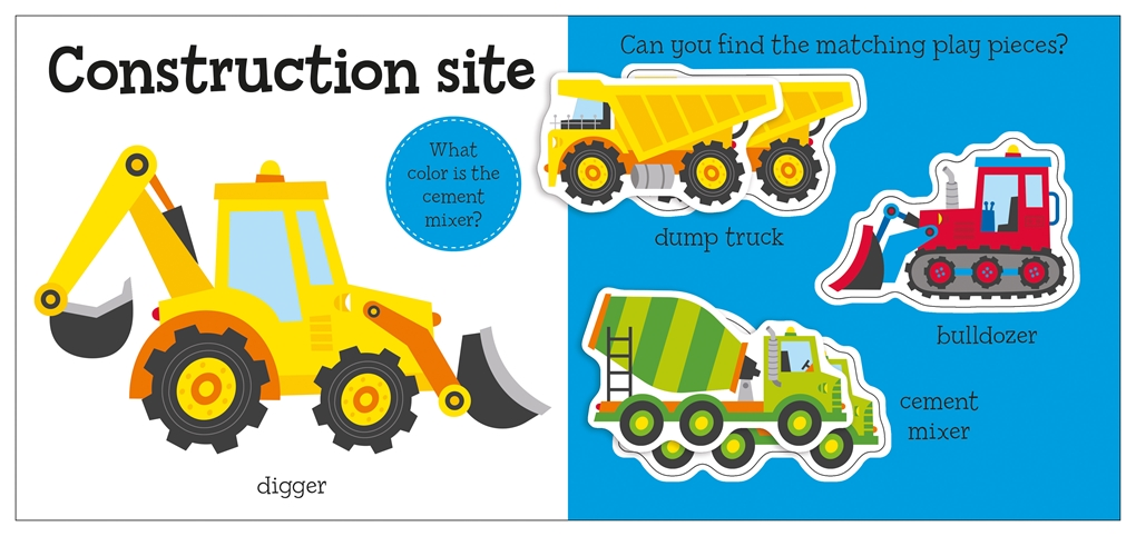 Interior book image for Little Baby Learns: Trucks