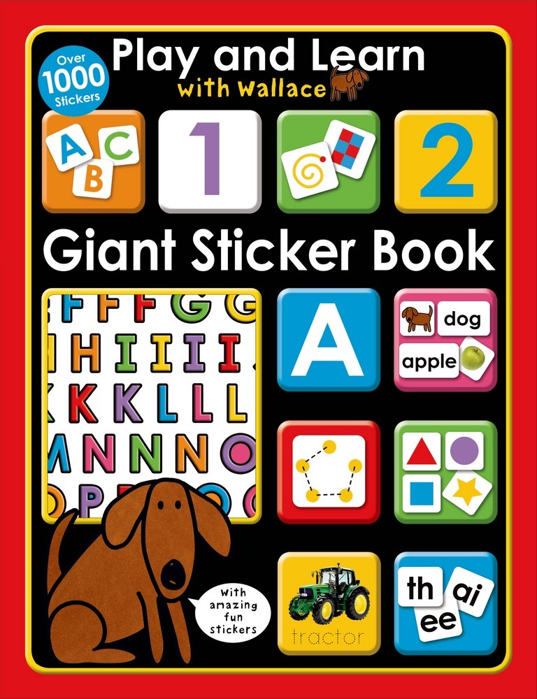 Play and Learn with Wallace: Giant Sticker Book