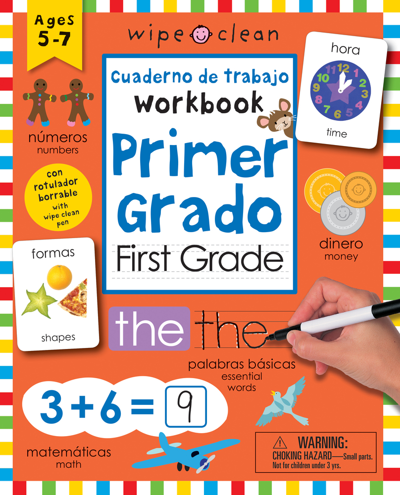 Wipe Clean: Bilingual Workbook for First Grade