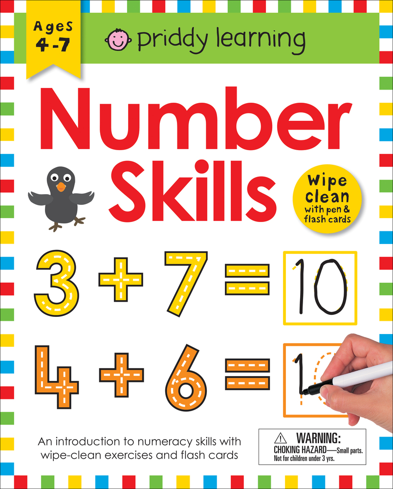 Wipe Clean Workbook: Number Skills (enclosed spiral binding)