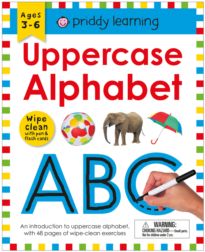 Wipe Clean Workbook: Uppercase Alphabet (enclosed spiral binding)