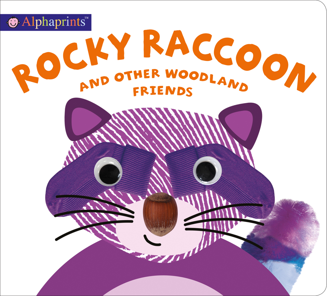 Alphaprints: Rocky Raccoon and other woodland friends