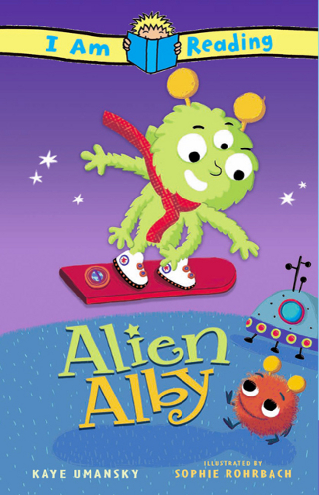 Children S Book Front And Back Cover : I am reading alien alby kaye umansky macmillan