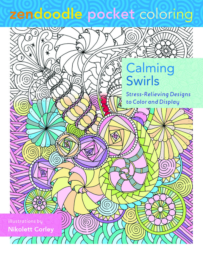 Zendoodle Pocket Coloring: Calming Swirls