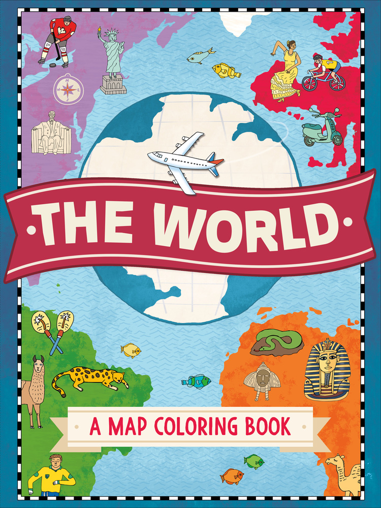 The World: A Map Coloring Book | Natalie Hughes | Macmillan