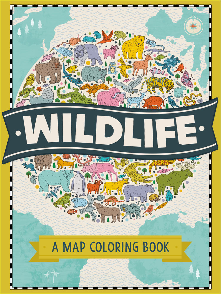 Wildlife a map coloring book