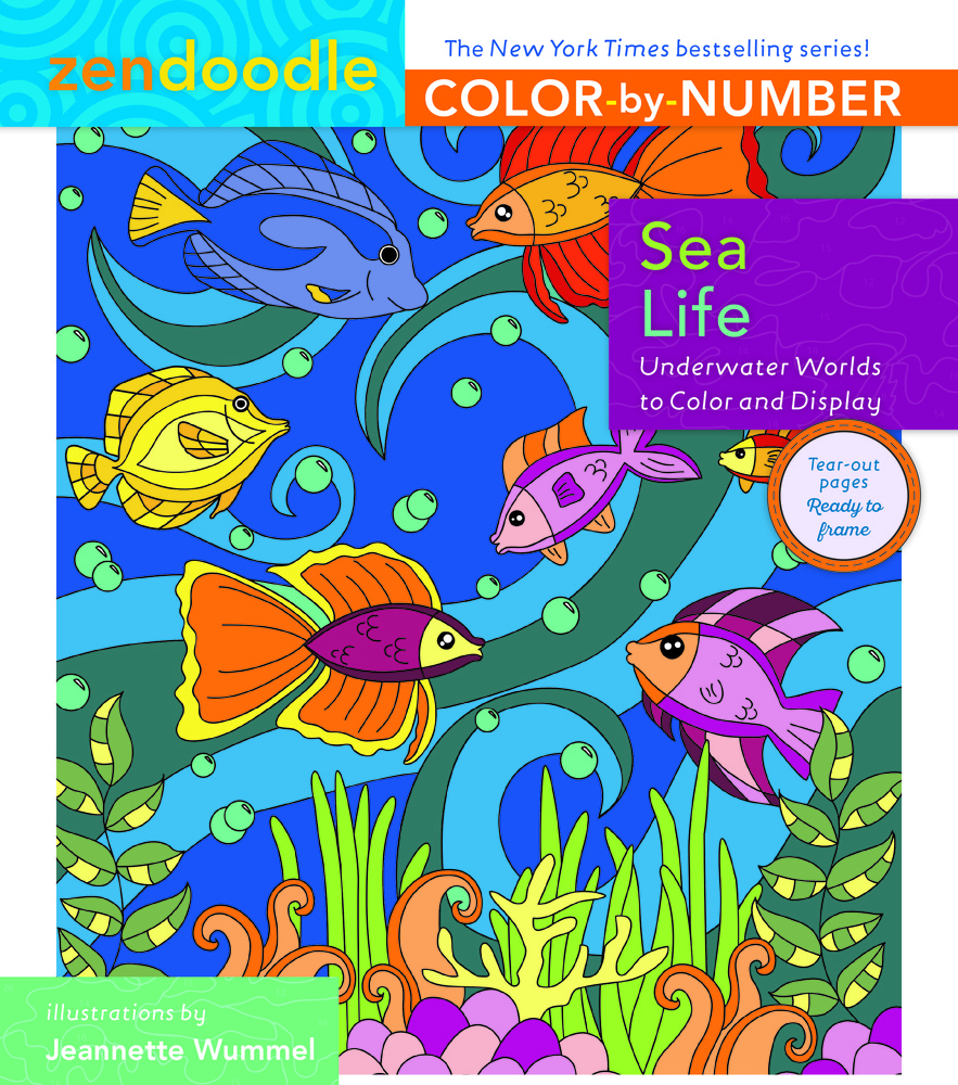 Zendoodle Color-by-Number: Sea Life | Jeanette Wummel | Macmillan