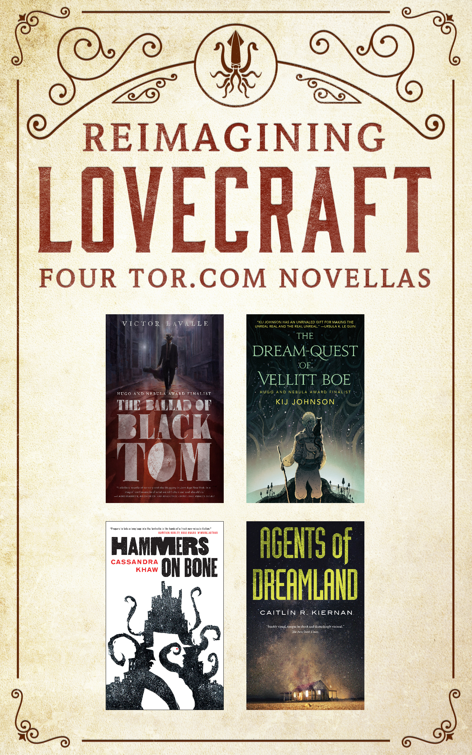 Reimagining Lovecraft: Four Tor.com Novellas