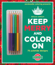 Zendoodle Coloring Presents Keep Merry and Color On