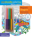 Zendoodle Coloring: Majestic Dragons