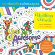 Zendoodle Colorscapes: Uplifting Words