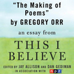 The Making of Poems