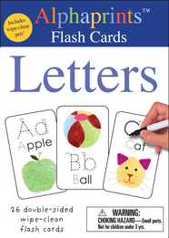 Alphaprints: Wipe Clean Flash Cards Letters