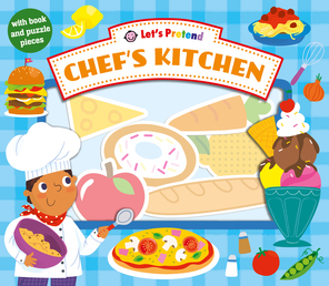 Let's Pretend Chef's Kitchen Book Cover - Click to open Coming Soon panel
