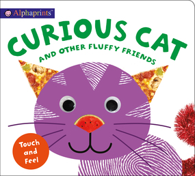 Alphaprints: Curious Cat and other Fluffy Friends Book Cover - Click to open Coming Soon panel