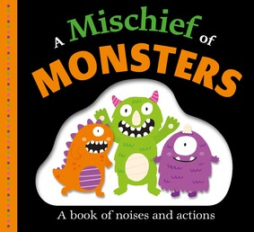 Picture Fit Board Books: A Mischief of Monsters Book Cover - Click to open New Releases panel