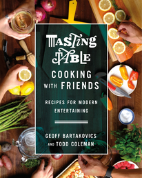 Tasting Table Cooking with Friends Book Cover - Click to open Cookbooks panel