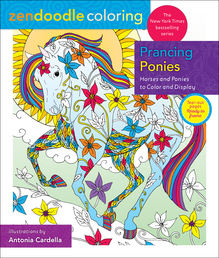 Zendoodle Coloring: Prancing Ponies Book Cover - Click to open Top Sellers panel