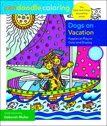 Zendoodle Coloring: Dogs on Vacation Book Cover - Click to open Top Sellers panel