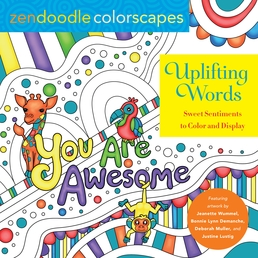 Zendoodle Colorscapes: Uplifting Words Book Cover - Click to open Top Sellers panel