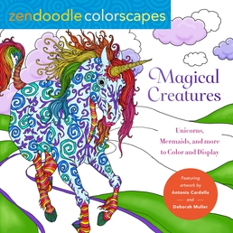 Zendoodle Colorscapes: Magical Creatures Book Cover - Click to open Coming Soon panel