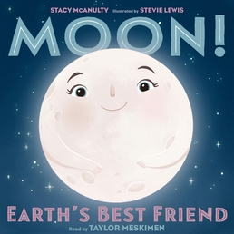 Moon! Earth's Best Friend Book Cover - Click to open Young Listener panel