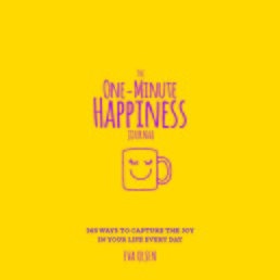 The One-Minute Happiness Journal Book Cover - Click to open New Releases panel