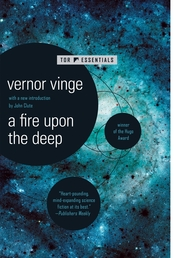 A Fire Upon The Deep Book Cover - Click to see book details