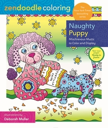 Zendoodle Coloring: Naughty Puppy Book Cover - Click to open New Releases panel