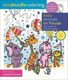 Zendoodle Coloring: Baby Animals on Parade Book Cover - Click to open New Releases panel