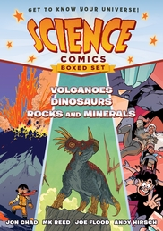 Science Comics Boxed Set: Volcanoes, Dinosaurs, and Rocks and Minerals Book Cover - Click to open :01 Collection panel