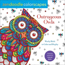 Zendoodle Colorscapes: Outrageous Owls Book Cover - Click to open Coming Soon panel