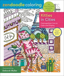 Zendoodle Coloring: Kitties in Cities Book Cover - Click to open Coming Soon panel