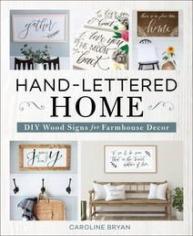 Hand-Lettered Home Book Cover - Click to open New Releases panel