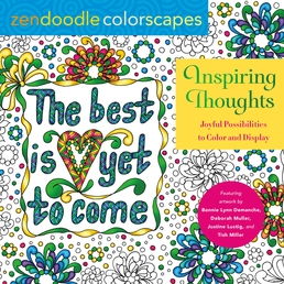 Zendoodle Colorscapes: Inspiring Thoughts Book Cover - Click to open Coming Soon panel